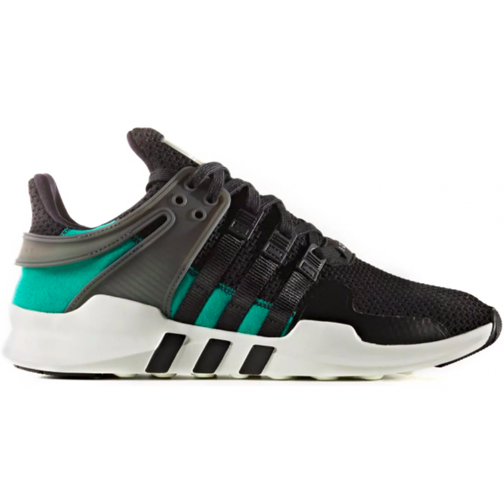 Adidas Eqt Support Adv Black Green (Черные с зеленым)
