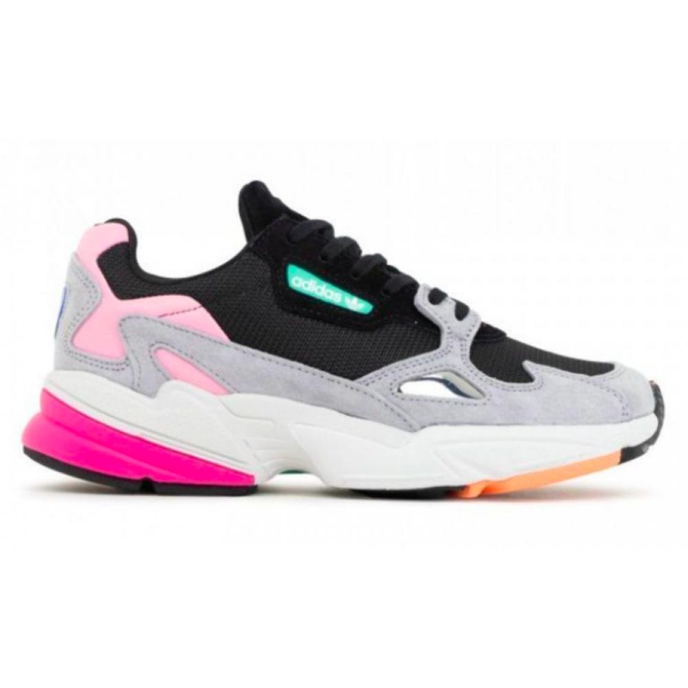 Adidas Falcon pink/black/gray (триколор)