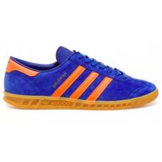 Adidas Hamburg blue orange (синие с оранжевым)