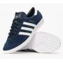 Adidas Hamburg blue white (синие с белой подошвой)