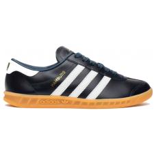 Adidas Hamburg black white (черные с белым кожа)