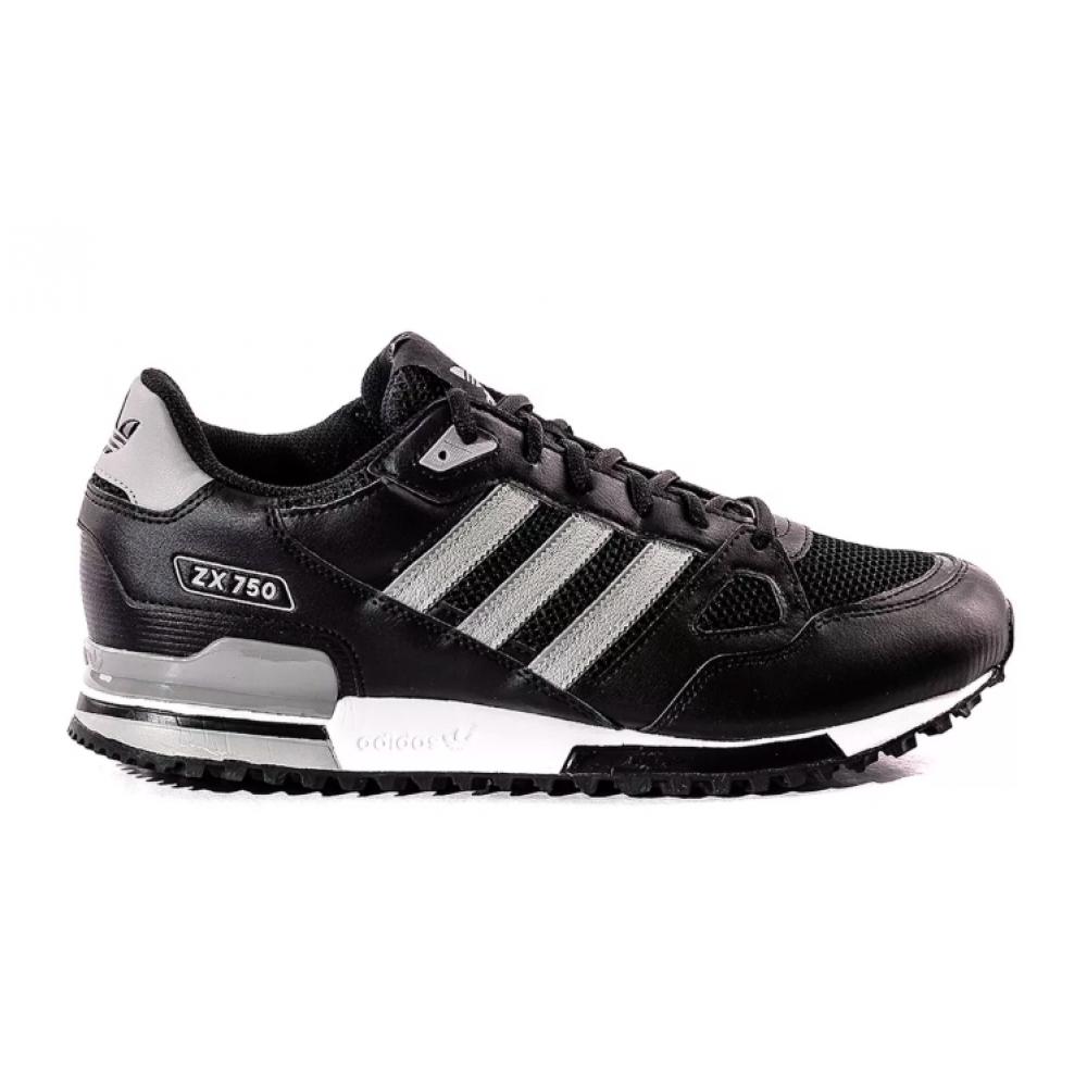 Adidas Zx 750 black leather (черные )
