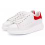 Alexander McQueen red white (белые с красным)
