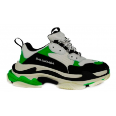 Balenciaga Triple S Black Green (черные с зеленым)