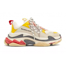 Balenciaga Triple S Grey Yellow (серые с желтым)