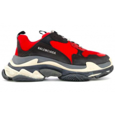 Balenciaga Triple S Black Red Grey (черные с красным)