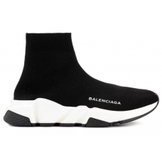 Balenciaga Speed Trainer Black White (черные с белым)