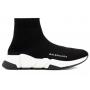 Balenciaga Speed Trainer Black White (черные с белым)