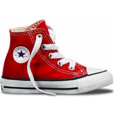 Converse Chuck Taylor All Star High red white (красные с белым)