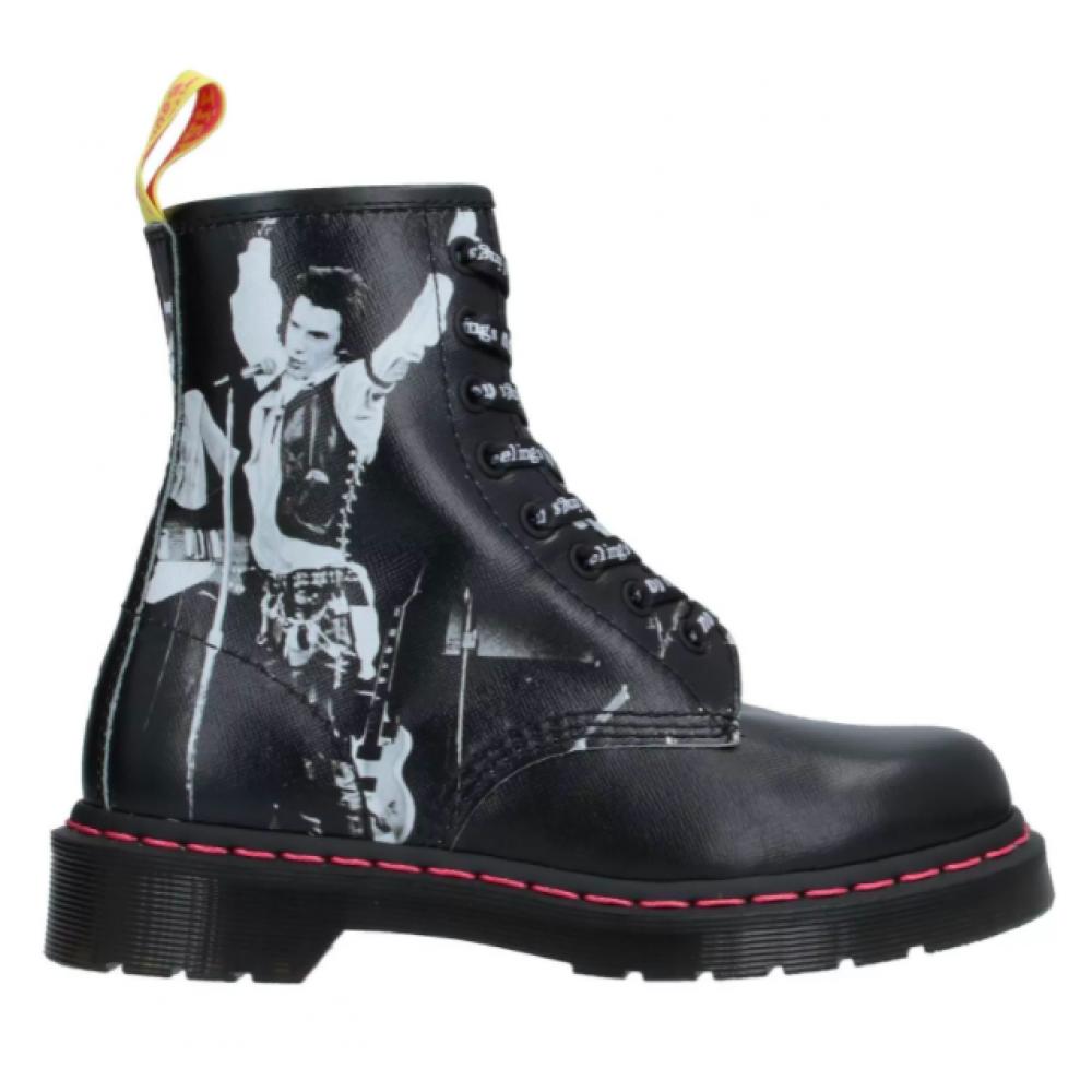Dr. Martens 1460 Sex Pistols (Черные с белым New)