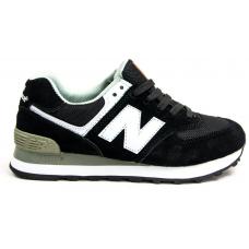 New Balance 574 black/white (черные с белым)