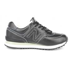 New Balance 574 Lbk black/white (черные с белым)