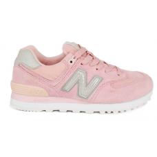 New Balance 574 Cic pink/white (розовые с белым)