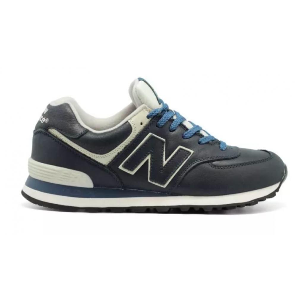 New Balance 574 Rub blue (синие кожа)