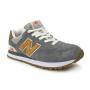 New Balance 574 Pib grey orange (серые с оранжевым)
