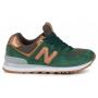 New Balance 574 green gold (зеленые с золотым)