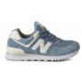 New Balance 574 Seg blue (синие с белым)