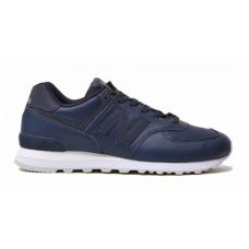 New Balance 574 blue (синие с белой подошвой)