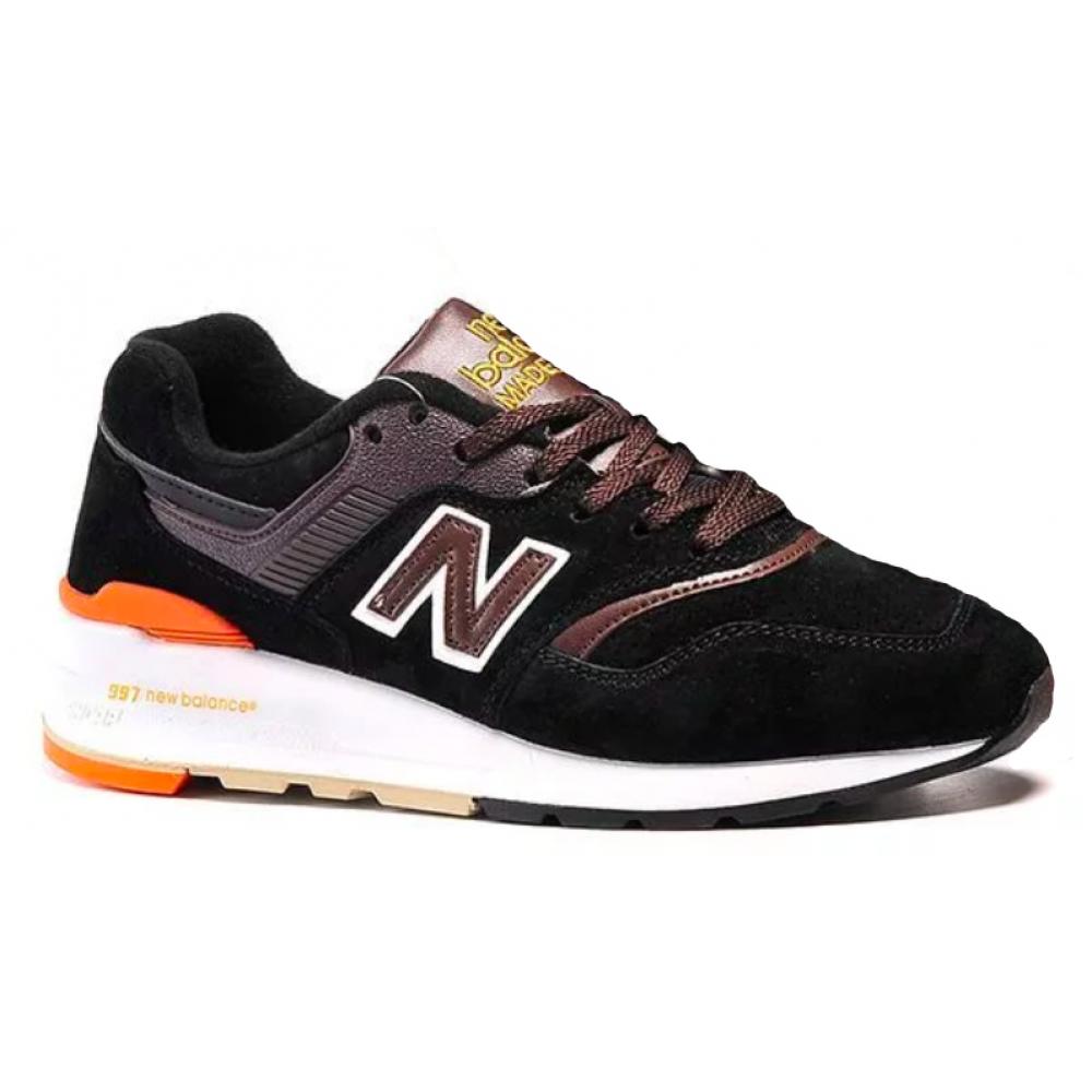 New Balance 997 Sport Usa black brown (черные с коричневым)