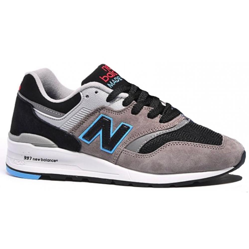 New Balance 997 Sport Usa grey black (серые с черным)