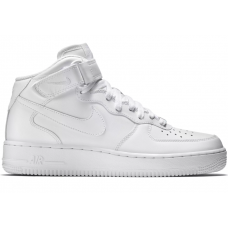 Nike Air Force 1 07 mid (высокие белые)