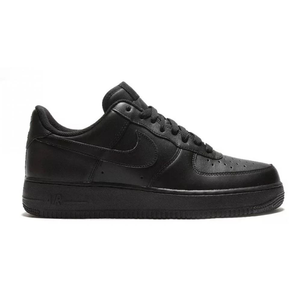 Nike Air Force 1 07 low (низкие черные)