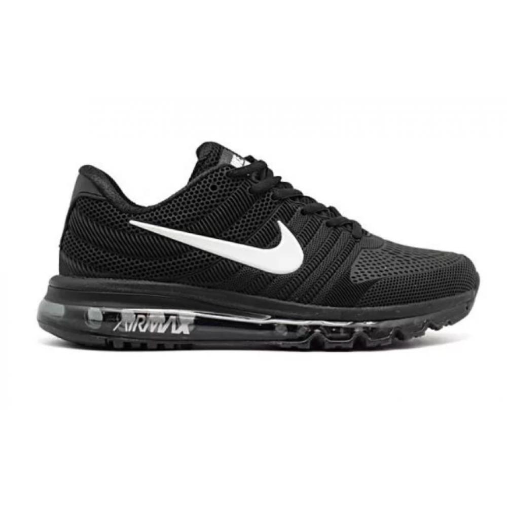Nike Air Max 2017 резиновые (черные с белым)
