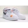 Nike Air Force 1 07 Mid Off White (высокие белые)