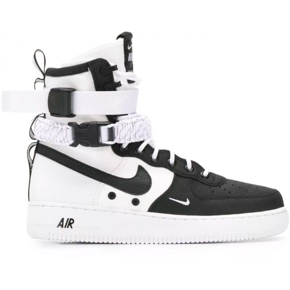 Nike Air Force 1 Special Field SF Black White (черные с белым)