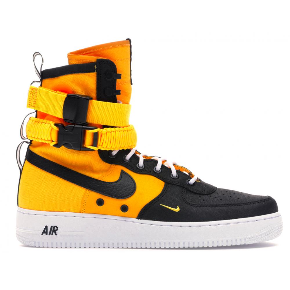 Nike Air Force 1 Special Field SF Yellow Black (желтые с черным)