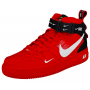 Nike Air Force 1 '07 low LV8 Red (красные)