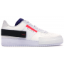 Nike Air Force 1 N 354 White Blue (белые с синим)