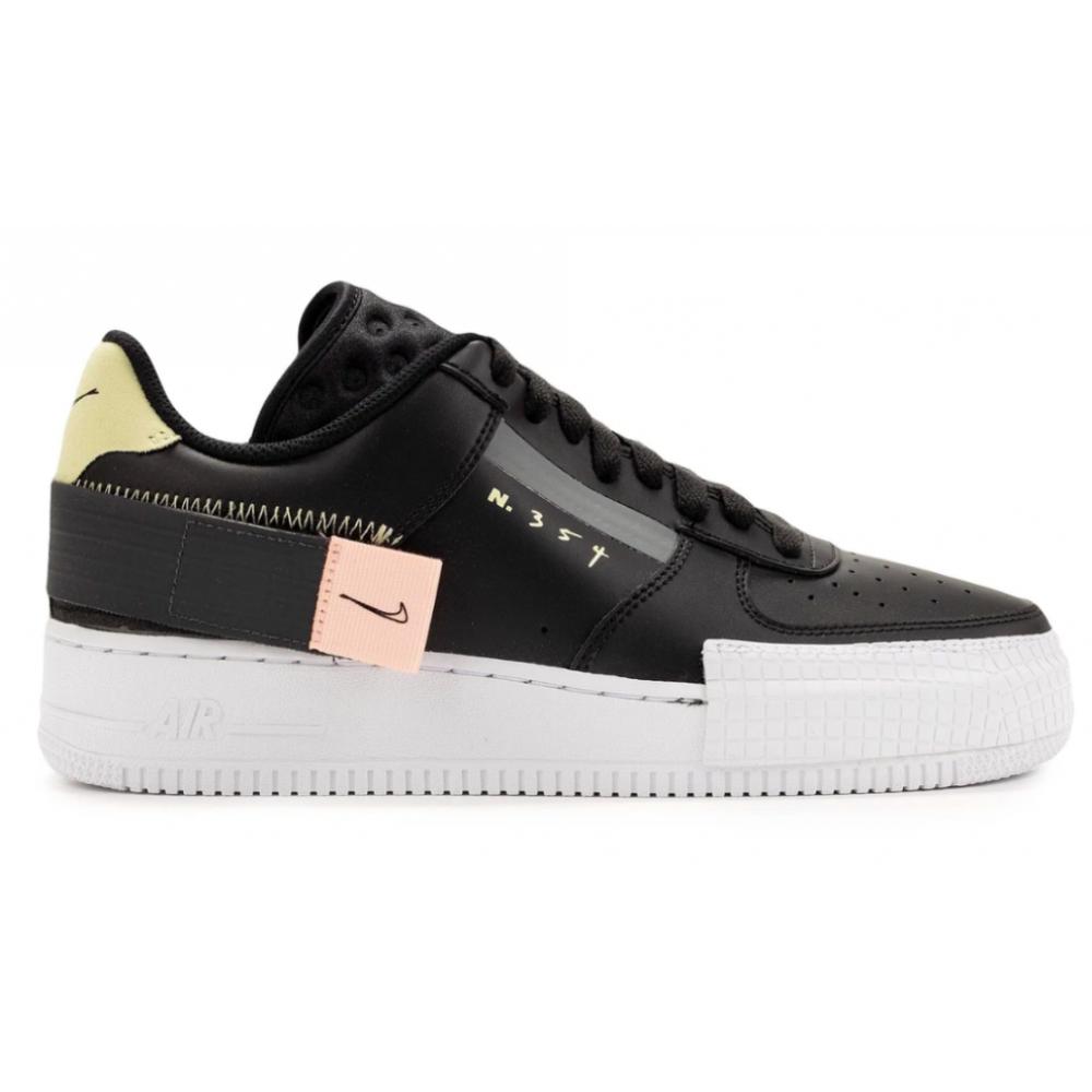 Nike Air Force 1 N 354 White Black (белые с черным)