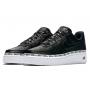 Nike Air Force 1 Se Premium Ribbon High Black (черные с белым)