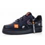 Nike Air Force 1 07 low just do It black (черные)