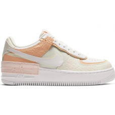 Nike Air Force Shadow Spruce white/beige (белые с бежевым)