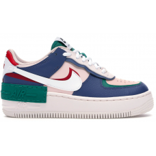 Nike Air Force 1 Low Shadow Mystic white/blue (белые с синим)