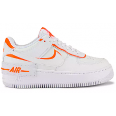 Nike Air Force 1 07 Low Shadow white orange (белые с оранжевым)