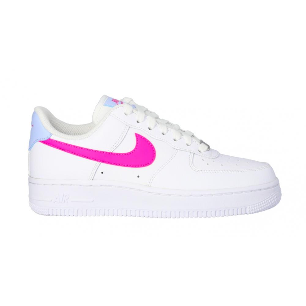 Nike Air Force 1 07 Low white (белые с розовым арт9)