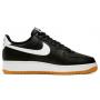 Nike Air Force 1 07 lv8 white black (белая подошва)