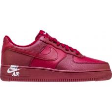 Nike Air Force 1 Low '07 LTHR 'Sail' 'Team Burgundy' (Бордовые)