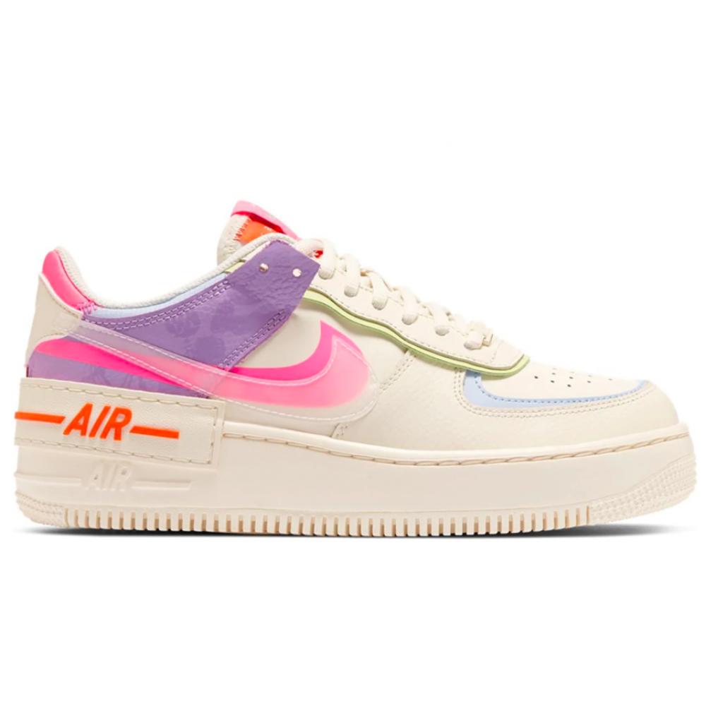 Nike Air Force 1 Low Shadow beige/rose (бежевые с розовым)