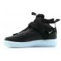 Nike Air Force 1 Mid Utility (Черные с синим)