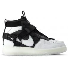 Nike Air Force 1 Mid Utility White (Белые с черным) арт1