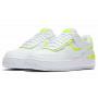 Nike Air Force 1 Shadow White Lemon Venom Volt (Белые)