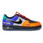 Nike Air Force 1 'What The LA' (Черные с оранжевым)