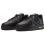 Nike Air Force Low 1 React Black (Черные кожа)