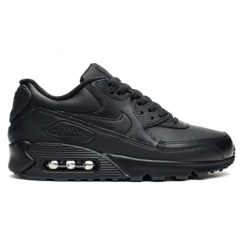 Nike Air Max 90 Leather (черные)