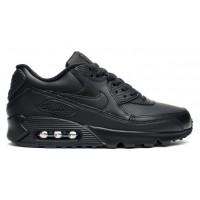 Nike Air Max 90 Leather (черные)