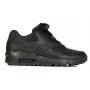Nike Air Max 90 Leather в сетку (черные)